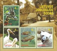 Litauen - Zoologisk have - Postfrisk miniark