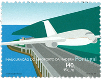 Portugal - Lufthavn - Postfrisk frimærke