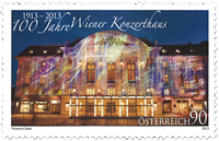 Austria - Wiener Konzerthaus (1) * - Mint stamp