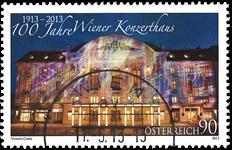 Østrig - Wiens Koncerthus - Stemplet frimærke
