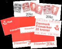 Danmark - AFA nr.1-7 - Frimærkehæfter 7 forskellige