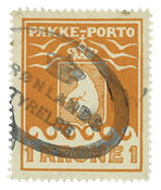 Greenland parcel stamp Thiele 1930, 1 crown