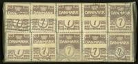 Danmark - bundter - Bølgelinie 7 øre - 10 stk.