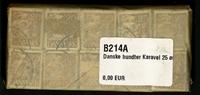 Danmark - bundter - Karavel 25 øre brun - 10 stk.