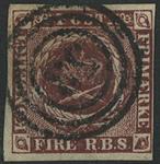 Danmark 1852 - AFA nr. 1/1a - 11a. - Fire RBS. Thieles I tryk