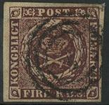 Danmark 1853 - AFA nr. 1-IIIb - Fire RBS. Thieles II tryk