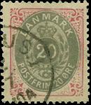 Danmark 1875 - AFA nr.28 stemplet