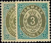 Danmark 1895 - AFA nr.22B,y ubrugt
