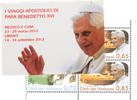 Vatikanet - Pavens rejser - Postfrisk hæfte