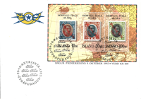 Iceland - Stamps on stamps - FDC