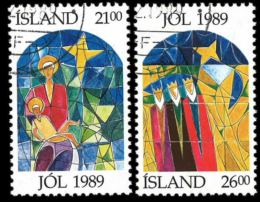Island - Julefrimærke - Stemplet