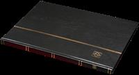 Insteekboek - Zwart - A4 - 16 witte bladzijden - ongewatteerde band