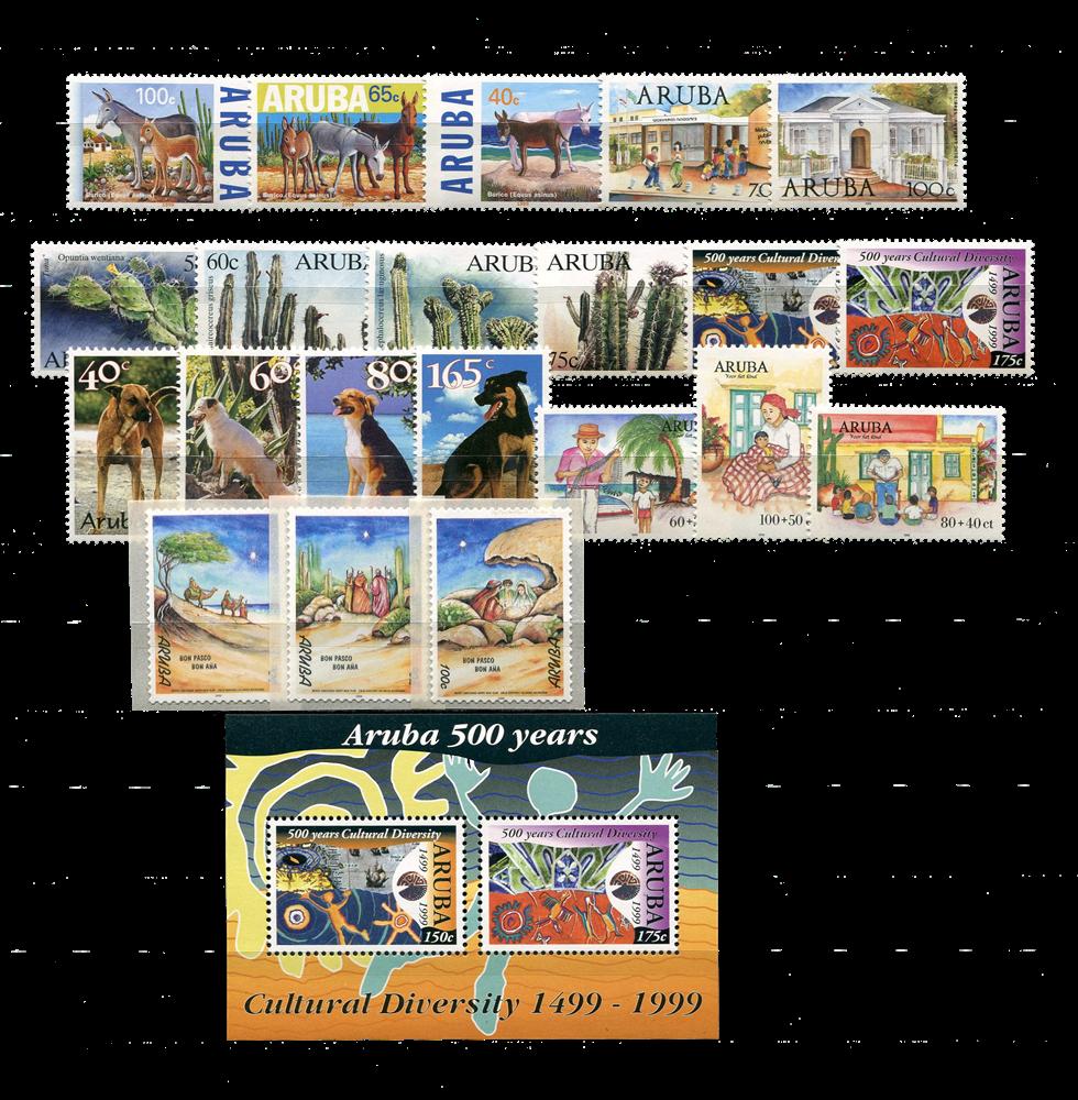 Aruba - jaargang 1999 (nr.221-242, postfris)