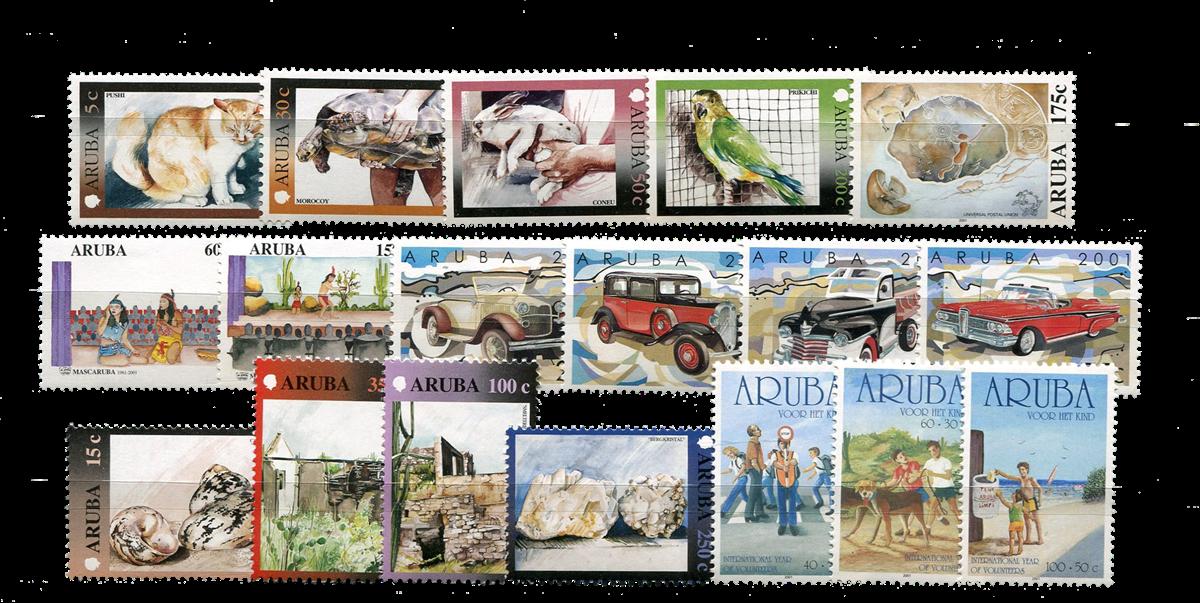 Aruba - jaargang 2001 (nr.260-277, postfris)