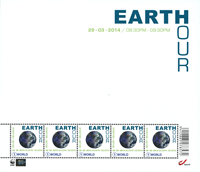Belgium - Earth Hour'14 - Mint sheetlet
