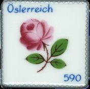 Østrig - Porcelænsfrimærke - Postfrisk miniark