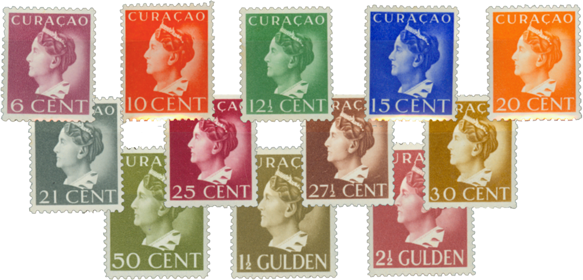 Curacao - Koningin Wilhelmina (Konijnenburg) (nr. 141-152, postfris)