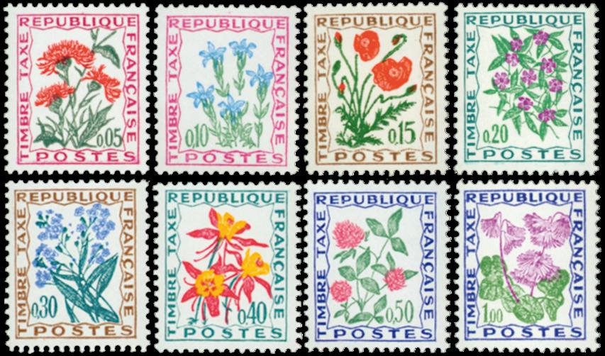 Frankrig - YT Portomærker 95-102