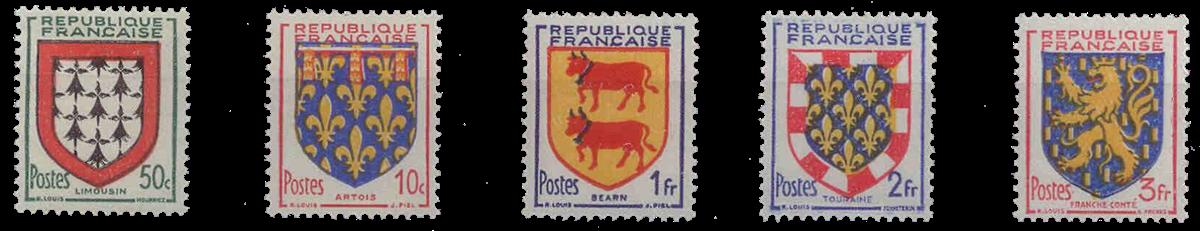 Frankrig - YT 899-903 - Postfrisk