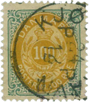Danmark 1875 - AFA nr. 31 - stemplet