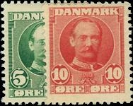 Danmark 1907 - AFA nr. 54-55 - postfrisk