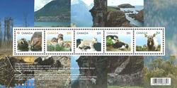 Canada - Vilde dyrebørn - Postfrisk miniark
