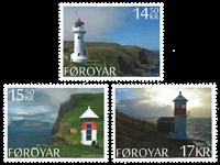 Færøerne - Fyrtårne - Postfrisk sæt 3v