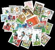 50 frimærker - Fodbold VM