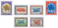 Greenland - American issue, AFA 20A-25A, mint