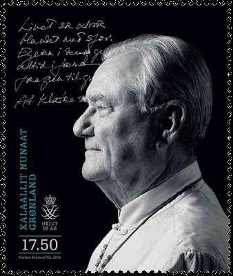 Grønland - Prins Henrik 80 år - Postfrisk frimærke