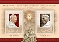 Hungary - Pope - Mint souvenir sheet
