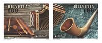 Switzerland - Europa Cept 2014 Music instruments - Mint set 2v