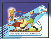 Benin - FIFA World Cup - Mint souvenir sheet and set of 6v