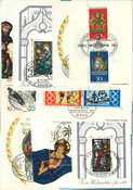 Western Germany 21 cancelled souvenir sheets
