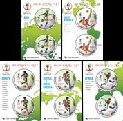 Sydkorea - Fodbold VM - Postfrisk sæt á 5 miniark