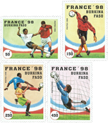 Burkina Faso - FIFA World Cup - Mint set 4v