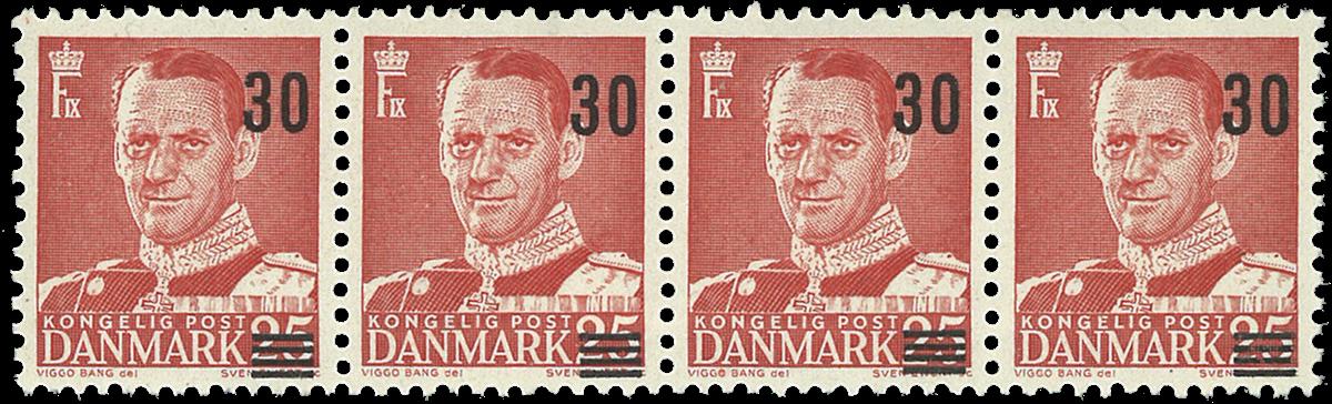 Danmark - 1956 - 20/25 øre rød postfrisk