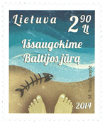 Lithuania - Save the Baltic Sea - Mint stamp
