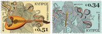 Cyprus - Europa Cept 2014 - Mint set 2v
