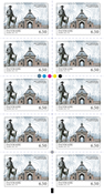 Denmark - Mansions - Mint strip of 10 x 6.50 kr.