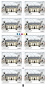 Denmark - Mansions - Mint strip of 10v 9,00 kr