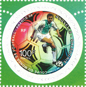 New Caledonie - FIFA World Cup - Circular mint stamp