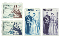 Monaco air mail YV PA 73+74+76+78
