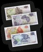 Nieuw Zeeland  - set van 4, 1 - 10 Dollars