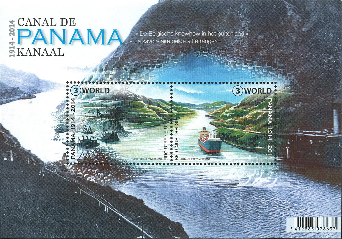 Belgien - Panamakanalen 100 år - Postfrisk miniark