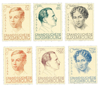 Luxembourg 1939 - Mint - Michel 333-38