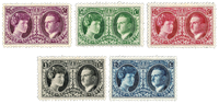 Luxembourg 1927 - Mint hinged - Michel 182-86