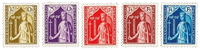 Luxembourg 1932 - Mint hinged - Michel 245-49