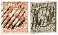 Luxembourg 1852 - Cancelled - Michel 1-2