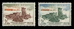 Belgien 1957 - OBP 1030-31 - Ubrugt